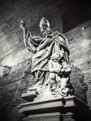 St. Adalbert Original Statue, Prague (jann.haemers) Tags: bw blackandwhite statue charles bridge prague czech republic praag tsjechië standbeeld kazematten casemates storage vysehrad europe vault gorlice