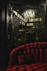 Royalty (Dizzou) Tags: dubai downtown urban red sofa lounge tea wroughtirondoor contrast places