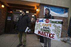 Protest against the Dakota Access Pipeline at US Bank (Fibonacci Blue) Tags: minneapolis mpls twincities protest nodapl dapl dakota demonstration pipeline event standingrock activism sioux activist native minnesota mn indian nativeamerican protester environment water oil indigenous cannonballranch climate ecology ecological bank invest divest usbank