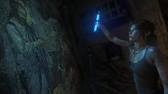 Lara & The Prophet (Dumigor) Tags: game lara tomb blue pc screenshot prophet dark