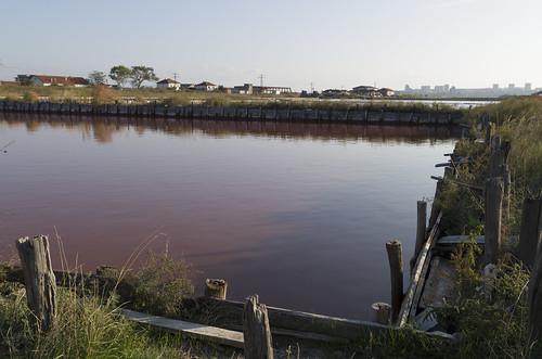 Bloody salt evaporation pond, 09.10.2014.