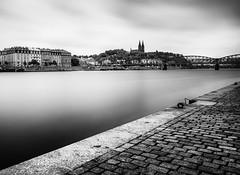Prague Long Exposure (sfabisuk) Tags: prague vltava longexposure le travel explore bw