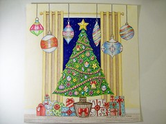 Tree (Lynne M. B.) Tags: coloringadults coloring coloringbook coloredpencils drawing art illustration prismacolor johannaschristmas jahannabasford christmas