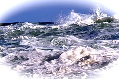 The sea is not always blue. (Englepip) Tags: sea waves foam whitehorses rough wash colours water broken splash swirl outdoor coast
