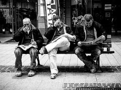Like Monkeys Wisdom .. (SibretManu) Tags: streetphotography luxembourg portrait street black white bw noir et blanc monochrome candid going moments decisive moment creative commons flickr flickriver explore eyed eye scene strassenfotografie fotografie city square squareformat photography bwartaward