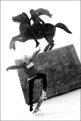 rearing (bostankorkulugu) Tags: skate skater makedonia timeless macedonian  skateboard greece macedonia thessaloniki salonica hellas salonika statue monument alexanderthegreat alexander horse rearing rearup jump