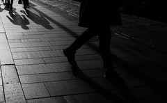 Pavement (DanieleS.) Tags: photo photography shot wow amazing cool great good dannyboy ilovedannyboy daniele black white bianco nero milano milan italy people shadows light lights autumn fall