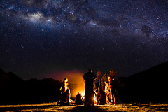 Night out (adrien.ledeul) Tags: perou inka inca mountain trek trekking hike hiking peru nature star milky way starry night camping camp outdoor starts chill fire bonfire