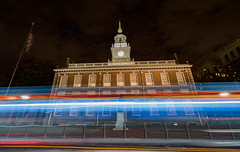 Independence Night (Stephanie Sinclair) Tags: independencehall nationalpark nikond810 philadelphia usdepartmentoftheinterior fall2016 findyourpark lighttrails longexposure seattleempress stephaniesinclairphotography traffic