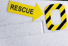 "Macro Mondays ""Arrow"" (Michael J P) Tags: macromondays arrow nikon nikond610 sigma plane jet rescue hatch sigma150mm28macro"