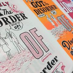 Disorder of Disorder #poster (Miss Mini Graff) Tags: poster serigraph screenprint 2016 letrset october mca