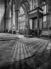 York Minster (Johnners61) Tags: york yorkshire england uk britain minster northyorkshire cathedral interior mono mood moody light shade history historic gothic old medieval ancient olympuspen pen microfourthirds micro four thirds mft m43 epm2