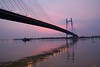 Sunset on 2nd  Hooghly bridge. (draskd) Tags: sunset twilight kolkata ganges 2ndhooglybridge vidyasagarsetu vidyasagarbridge