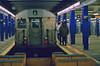 E Train, Chambers Street/World Trade Center (gg1electrice60) Tags: nyc underground subway worldtradecenter terminal etrain newyorkstate subwaystation tunnels manhatten platforms nycsubway chambersstreet bluecolumns subwayterminal 8thavelocal