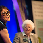 Xinran with Chair Ruth Wishart