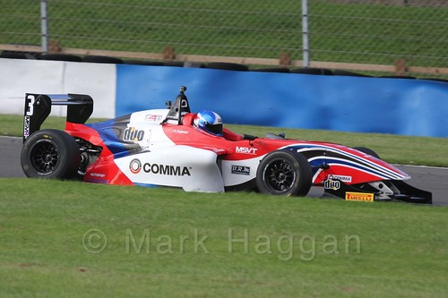 HHC Motorsport's Will Palmer in BRDC F4 Race 3 at Donington Park, September 2015