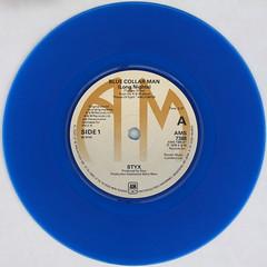 Styx - Blue Collar Man (Long Version) (Leo Reynolds) Tags: blue colour vinyl single record squaredcircle disc coloured platter 45rpm 7inch xleol30x sqset120 xxx2015xxx