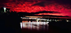 Red at Night (3) (Roland 22) Tags: red reflection water clouds lights flickr glow bridges northshore lamps walnutstreetbridge tennesseeriver chattanoogatn bluffview coolidgepark