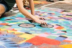 SPARKcon 2015 (Dan   Hacker   Photography) Tags: life city streetart art chalk performance citylife northcarolina raleigh chalkart fayettevillestreet sparkcon vsco sparkcon2015