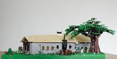 LEGO restaurant-08 (Elio7) Tags: bridge roof chimney tree restaurant starwars nikon lego harrypotter lordoftherings elio middleearth legomovie d7000