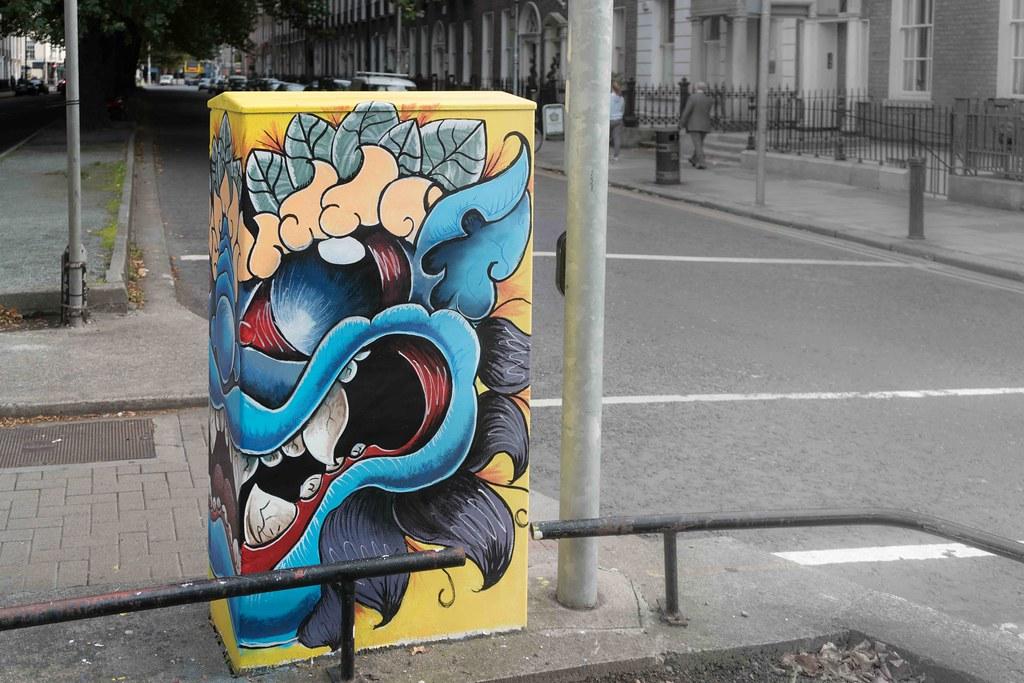 """""""Monty"""" By Kim Bale [Baggot Street Dublin Canvas Project 2015] REF-10805490"""