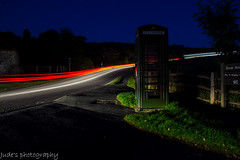Light trails (judethedude73) Tags: light sussex trails telephonebox cuckmere