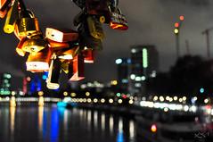 bokeh from the Eiserner Steg (.) Tags: nightphotography bridge night river germany deutschland am nikon fotografie nacht frankfurt main brcke nachtfotografie d5000