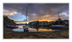 Plockton sunrise (Katybun of Beverley) Tags: panorama sunrise landscape boats scotland highlands scenery scenic plockton westhighlands