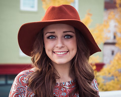 Logan (rhn3photo) Tags: portrait people smile hat fashion model outdoor blueeyes lifestyle naturallight felt floppy ambient dimples chic boho bohochic