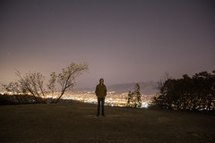 Self Portrait (Alec C Miller) Tags: california longexposure trees light shadow mountain mountains color art nature skyline night digital landscape photography los long exposure glow cityscape angeles hill fine dirt pollution