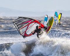 PC311337-Edit (Brian Wadie Photographer) Tags: gulls oystercatcher windsurfing kiting em1 goodlight 14xtc avonbeach canon70300lis hemgistburyhead