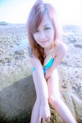 _DSC1533# () Tags: nikonafsnikkor1635mmf40gedvr nikon 1635mm f4 g vr 1635 wideangle wide    portrait brunette beauty charming woman bikini swimsuit sexy d3s   beach overpoweringthesun lights         cute  femalefeet
