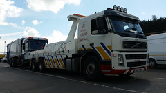 Volvo Recovering 6 Wheeler Ashcart From Carmarthen (JAMES2039) Tags: rescue truck volvo eagle rear cardiff lorry elite breakdown dennis heavy tow towtruck recovery ask johnstown carmarthen wrecker 6wheeler fm12 ashcart underlift heavyunderlift askrecovery ca02tow rearsuspend