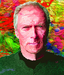 Clint Eastwood (Jackie XLY) Tags: painting clinteastwood