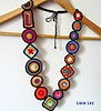 Pedacinhos de cor, colar de crochê (Lidia Luz) Tags: necklace handmade crochet colar crochê lidialuz