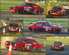 Car 14 - Swift Signs - Christmas Stages Rally - Croft Circuit Near Darlington North Yorkshire - 27th December 2015 (ladythorpe2) Tags: christmas signs ford december bell near yorkshire 14 rally north stages croft graeme darlington swift circuit russ 27th radford escoert millington 2015 rs2500