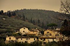 (Guido Giachetti) Tags: trees houses mountain cloudy hill olive medieval case le tuscany monte toscana borgo cypresses ulivi morello medioevale sesto cipressi fiorentino querceto cappelle