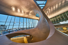 A whale's tail in Arnhem Central train station (Michael Echteld) Tags: window netherlands lines architecture buildings availablelight sony arnhem curves wideangle indoor trainstation fullframe curve ultrawide modernarchitecture sweeping sigma1224 ultrawideangle a7ii linescurves sonyalpha michaelaechteld sonya7ii ilce7m2 sonyalpha7ii