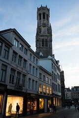 Evening stroll (paul indigo) Tags: belfry belgium bruges brugge halletoren paulindigo architecture evening night shops tourism