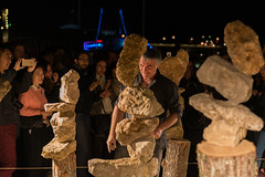 Balancing rubble and rocks (Gilles Charrot, Nuit Blanche 2016) (Czternasty) Tags: nuitblanche paris equilibre equilibrum gravity gravité pierre rock sculpture art gillescharrot balancing