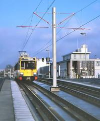 Once upon a time - The Netherlands - Utrecht West (railasia) Tags: holland provinceutrecht utrecht paulkrugerbrug sun articulatedmotorcar sig deliverydesign infra bridge eighties