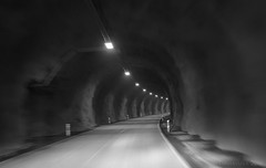 it's a real life carousel (lunaryuna) Tags: iceland easticeland travel journey voyage rouyndtrip ontheroadagain driving tunnel roundandroundandround fundrive architecture mood blackwhite bw monochrome lunaryuna