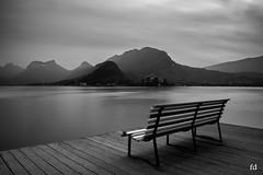 have a good WE (flo73400) Tags: bw lake lacdannecy nb le longexposure poselongue paysage landscape banc