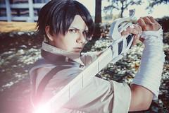 Ackerman (Laynachu) Tags: levi ackerman aot attackontitan cosplay cosplayer sword light edit outdoors bandages