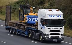 PX14SXP  Story, Carlisle (highlandreiver) Tags: px14sxp px14 sxp story construction rail transport scania truck lorry haulage m6 wreay carlisle cumbria