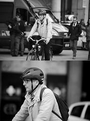 [La Mia Citt][Pedala] (Urca) Tags: milano italia 2016 bicicletta pedalare ciclista ritrattostradale portrait dittico bike bicycle nikondigitale mir biancoenero blackandwhite bn bw nn 89149