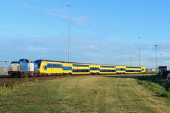 Volkerrail 203-5 met DDZ 7521 bij HCT in de Houtrakpolder (sanfranjake) Tags: houtrakpolder hctterminal hct act trein nederlandsespoorwegen volkerrail v100