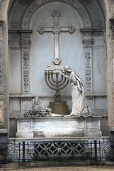 A Jewish Hannukah Menorah Candelabra on a tomb (VinayakH) Tags: tombs tomb recoletacemetery recoleta larecoletacemetery cemetery buenosaires graves argentina latinamerica southamerica mausoleum artnouveau artdeco neogothic baroque architecture