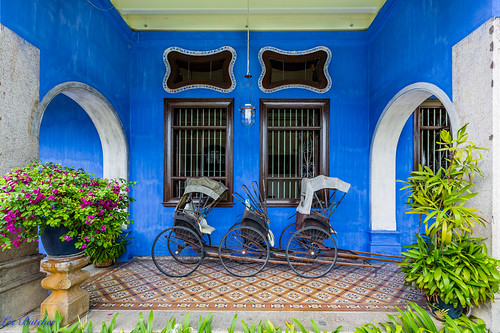 Cheong Fatt Tze Mansion (Blue Mansion), George Town, Penang Malaysia