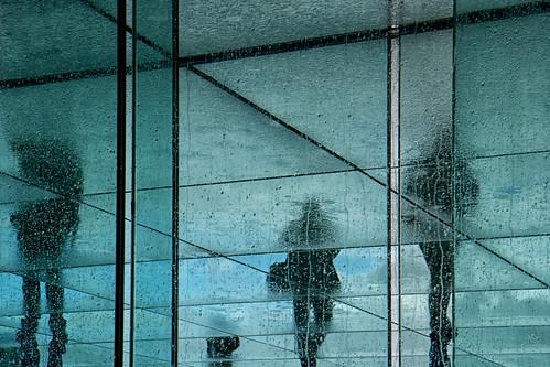 Transparences humides. Grande Arche de La Défense